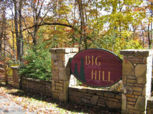 Entry Sign to Big Hill Community