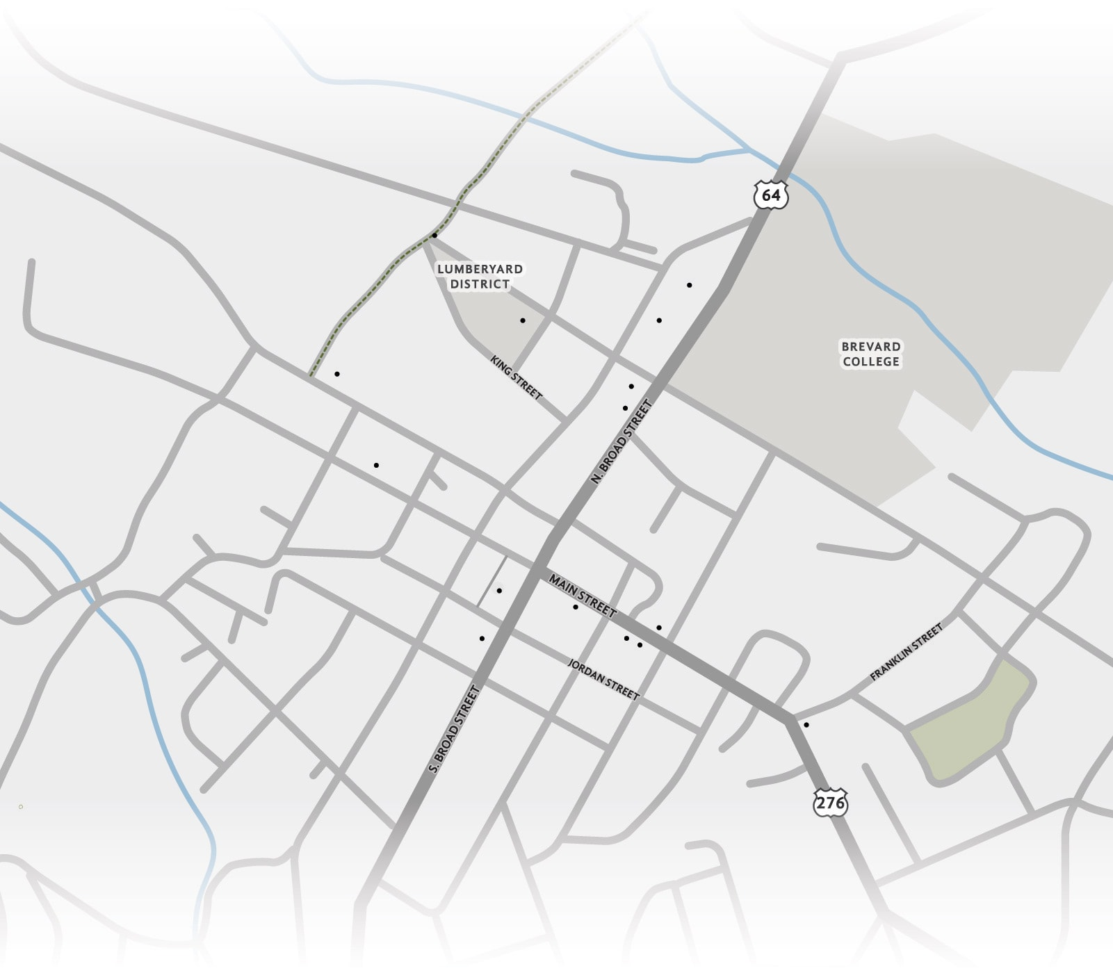 Downtown Brevard NC Interactive Map